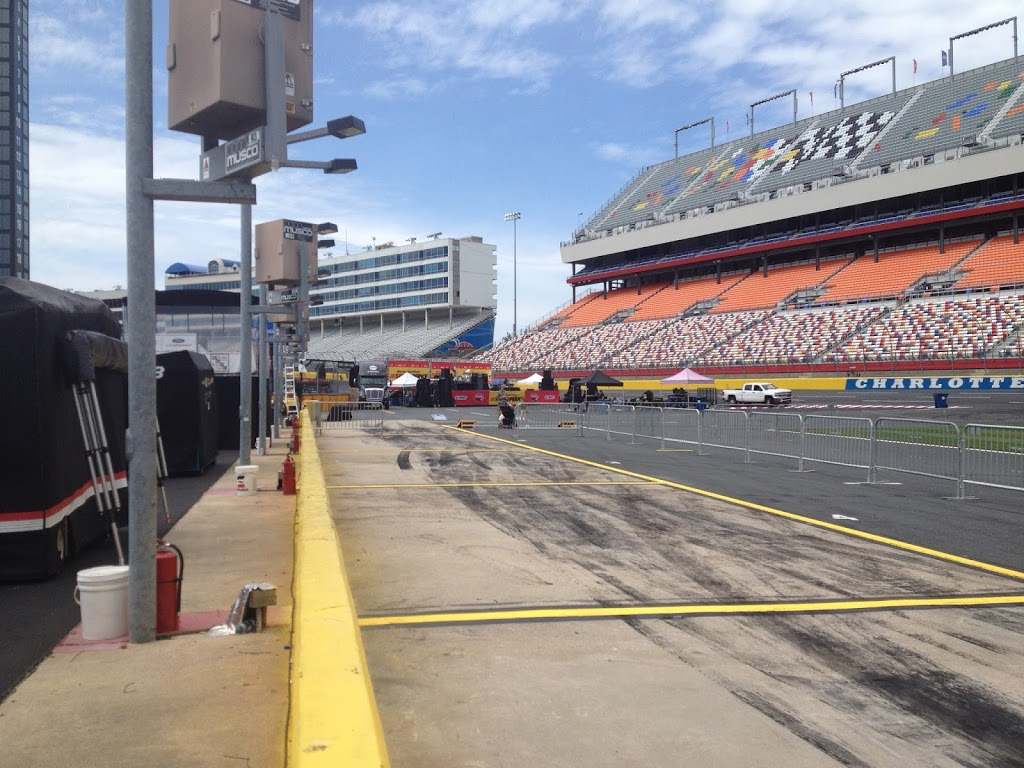 Pit road of Charlotte Motor Speedway